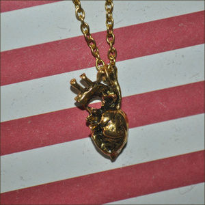 Jewelry - Anatomical Heart Necklace - gold